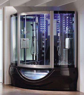 This shower has its own water heater a touch screen - Waterproof sound system for bathroom ...