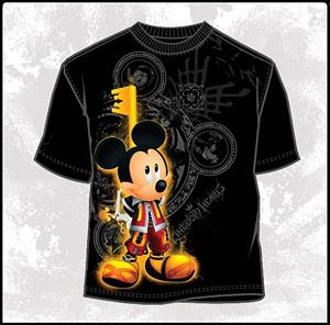 Kingdom Hearts T-Shirt:   Kingdom Key Mickey (KH006MS)