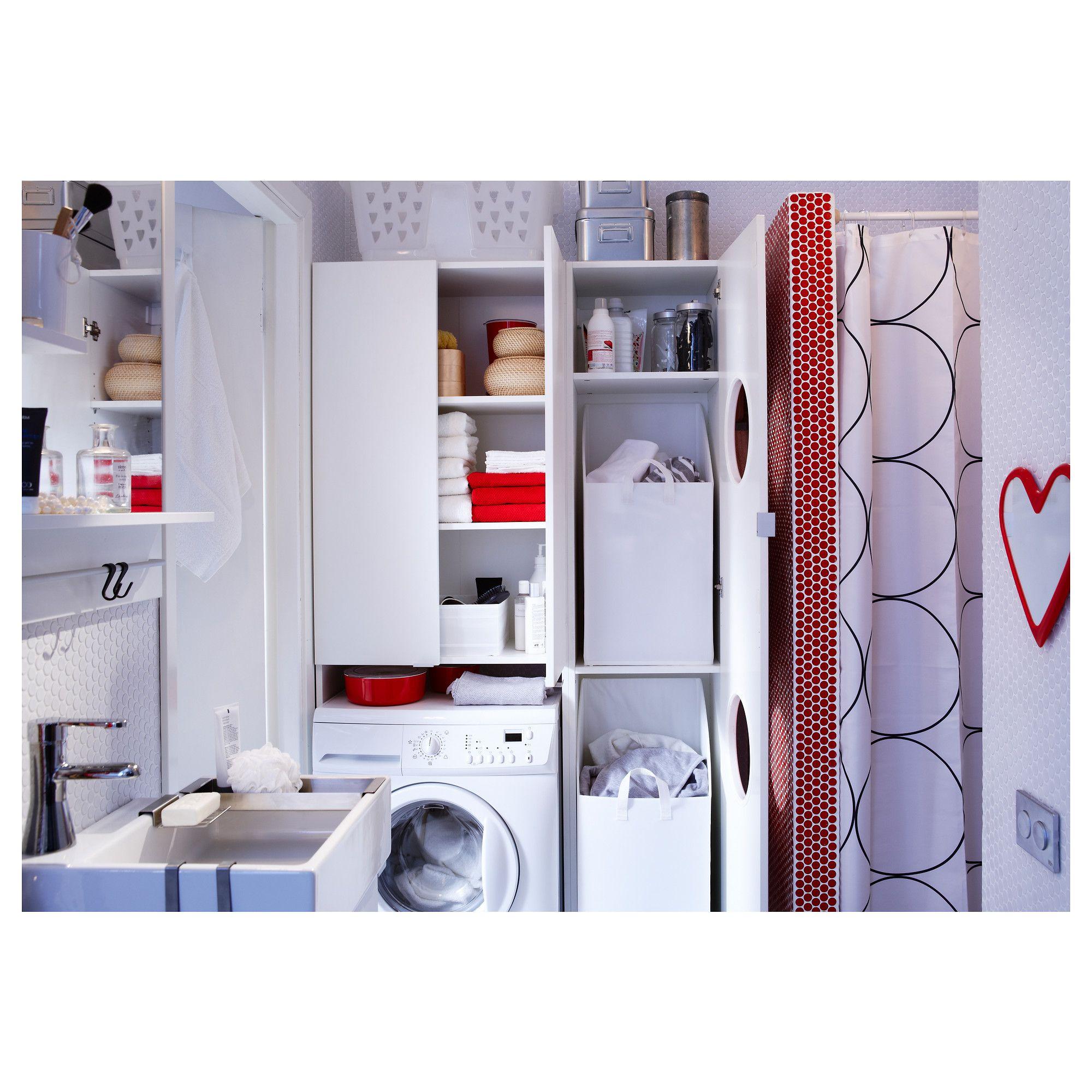 Lillangen Laundry Cabinet White 15 3 4x15x70 1 2 40x38x179 Cm