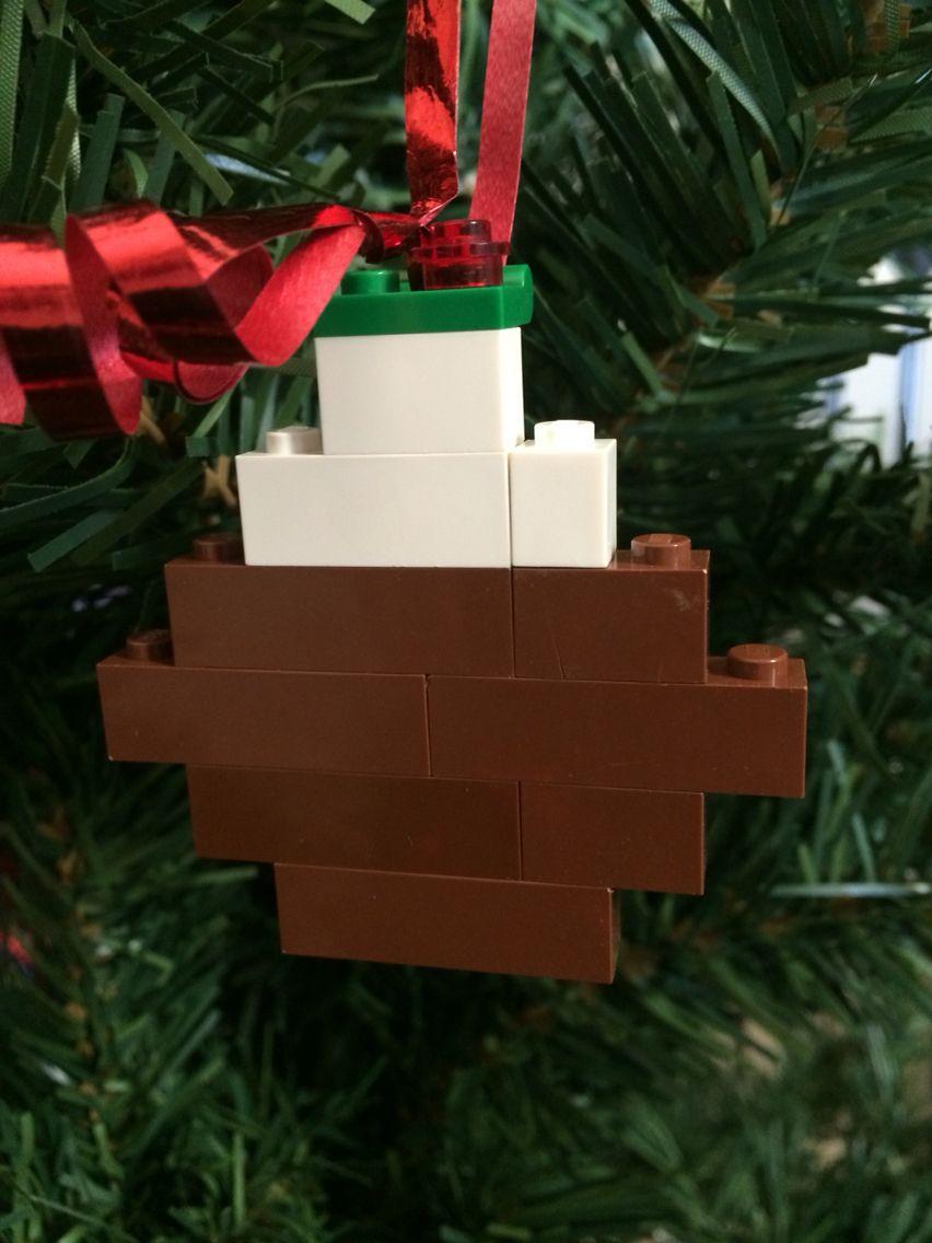 Lego christmas pudding decoration lego pinterest lego