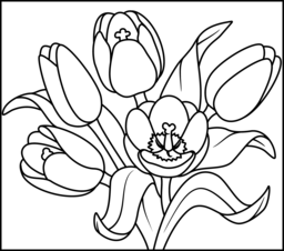 Tulip - Coloring Page (With images) | Coloring pages ...