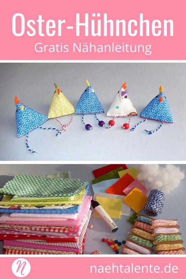 Mini-Osterhühner | nähen / sewing | Pinterest | Sewing, Easter und DIY