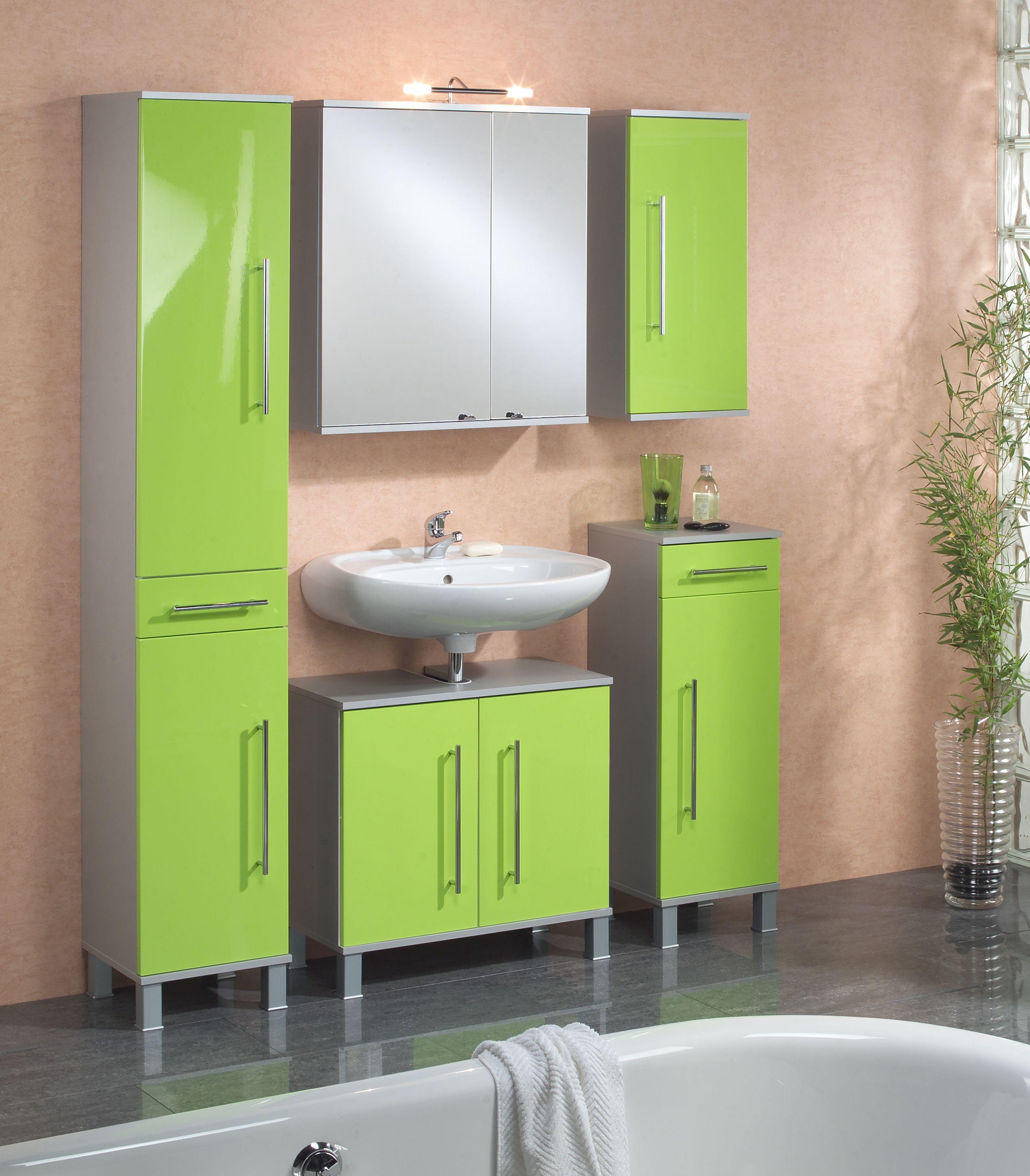 Badezimmer Grün badezimmer grün hochglanz alufarben woody 151 00012 mdf modern
