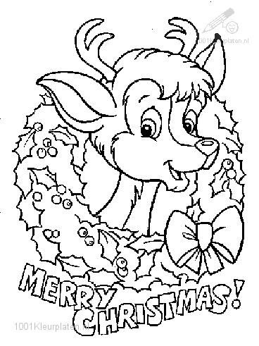 Rudolph The Red-Nosed Reindeer Coloring Page | !My coloring pages ...