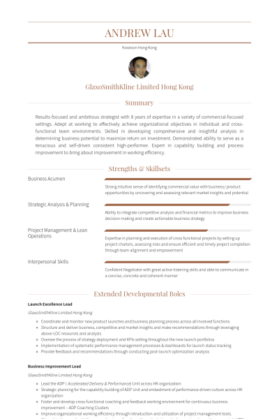 Key Account Manager Ejemplo De Curriculum Sample Resume Manager Resume Resume