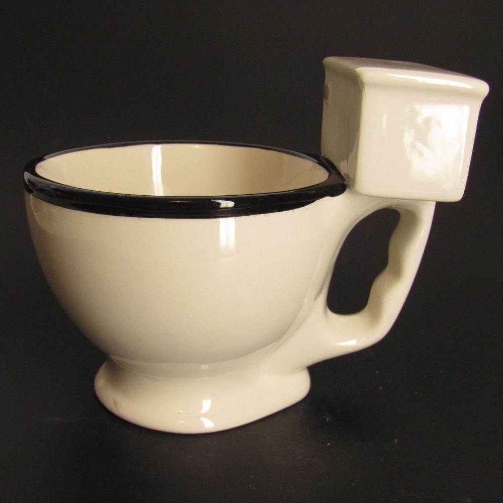Mouth White 3d Big Funny Toilet Gift Porcelain Mug Throne Gag Coffee D92IWYEH