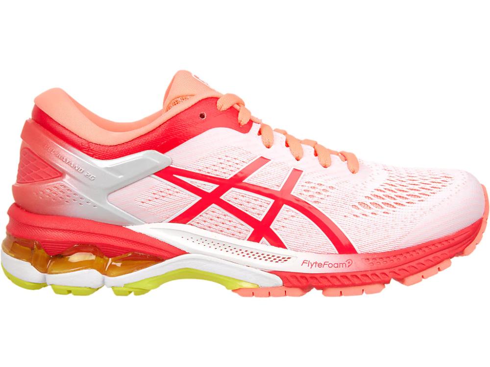 Gel kayano 26 kai | Pink running shoes, Womens running shoes