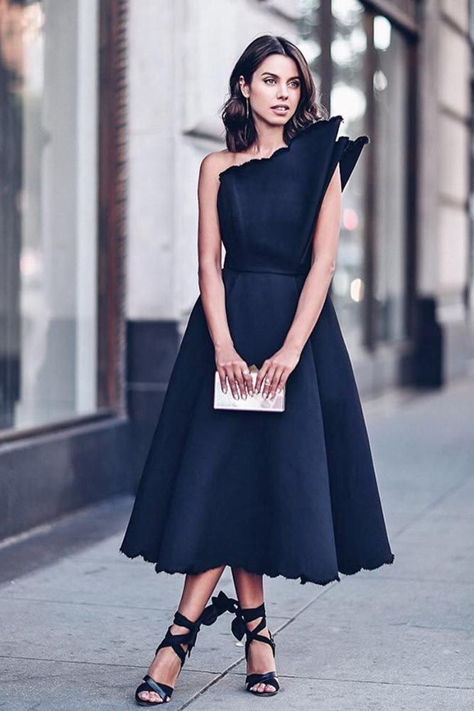 315a73d64f7 Gorgeous 45 Elegant Ways to Make Outifts with Black Pieces. TOP 24  Graduation Dress Designs ☆ See more  ...