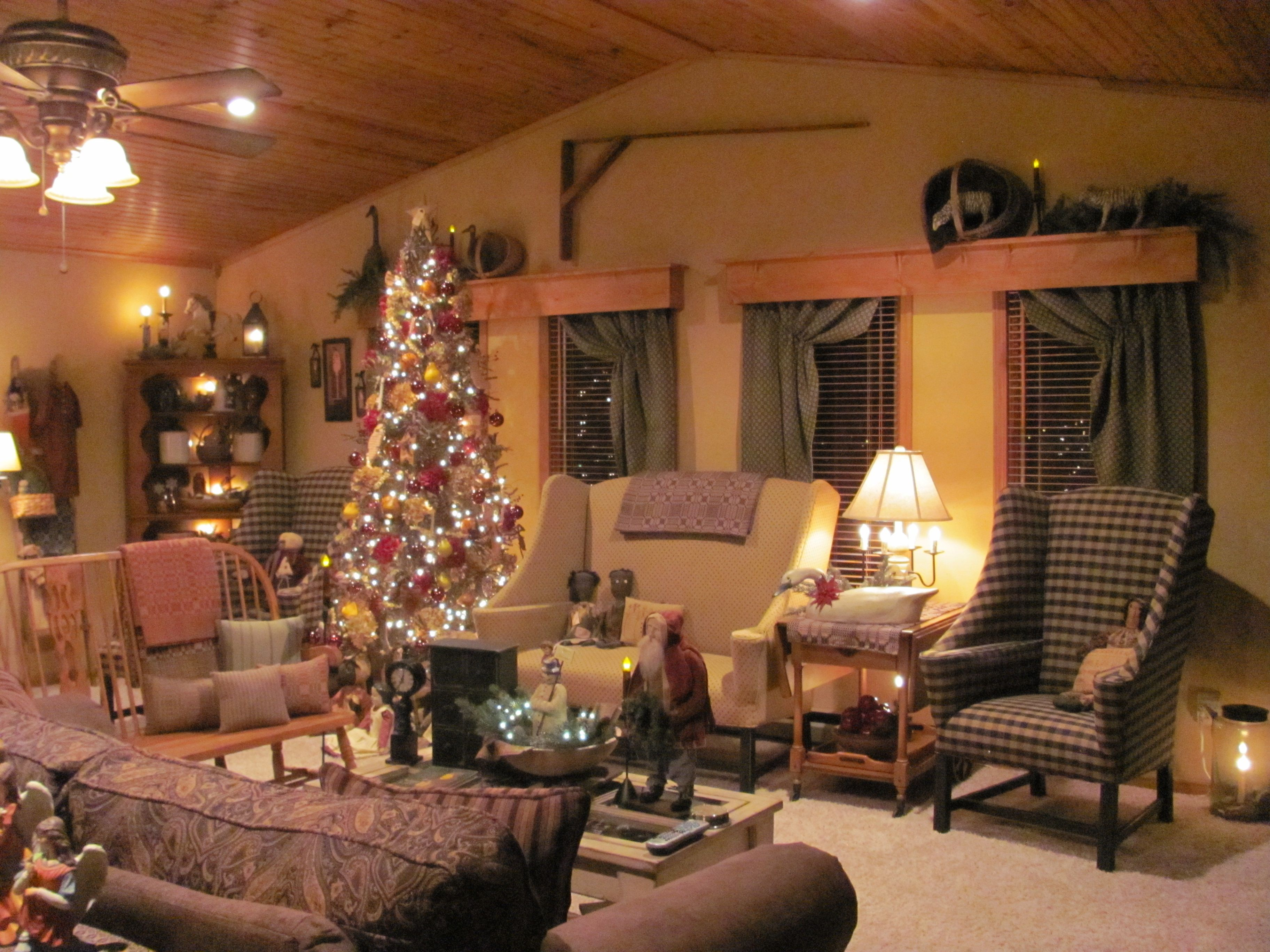 Primitive home i want to do this above my living room - Primitive country living room ideas ...