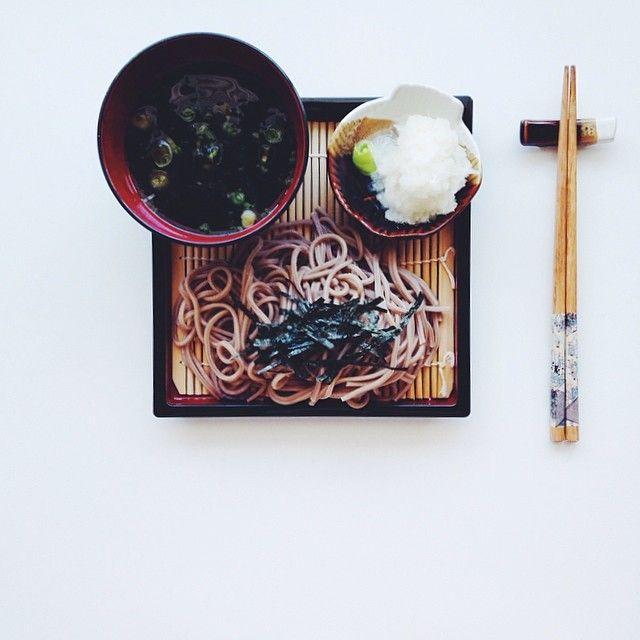 Cold Japanese Soba with Daikon Radish