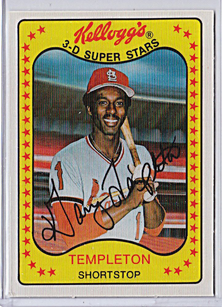 1981 Kelloggs 27 Garry Templeton St Louis Cardinals Nrmt