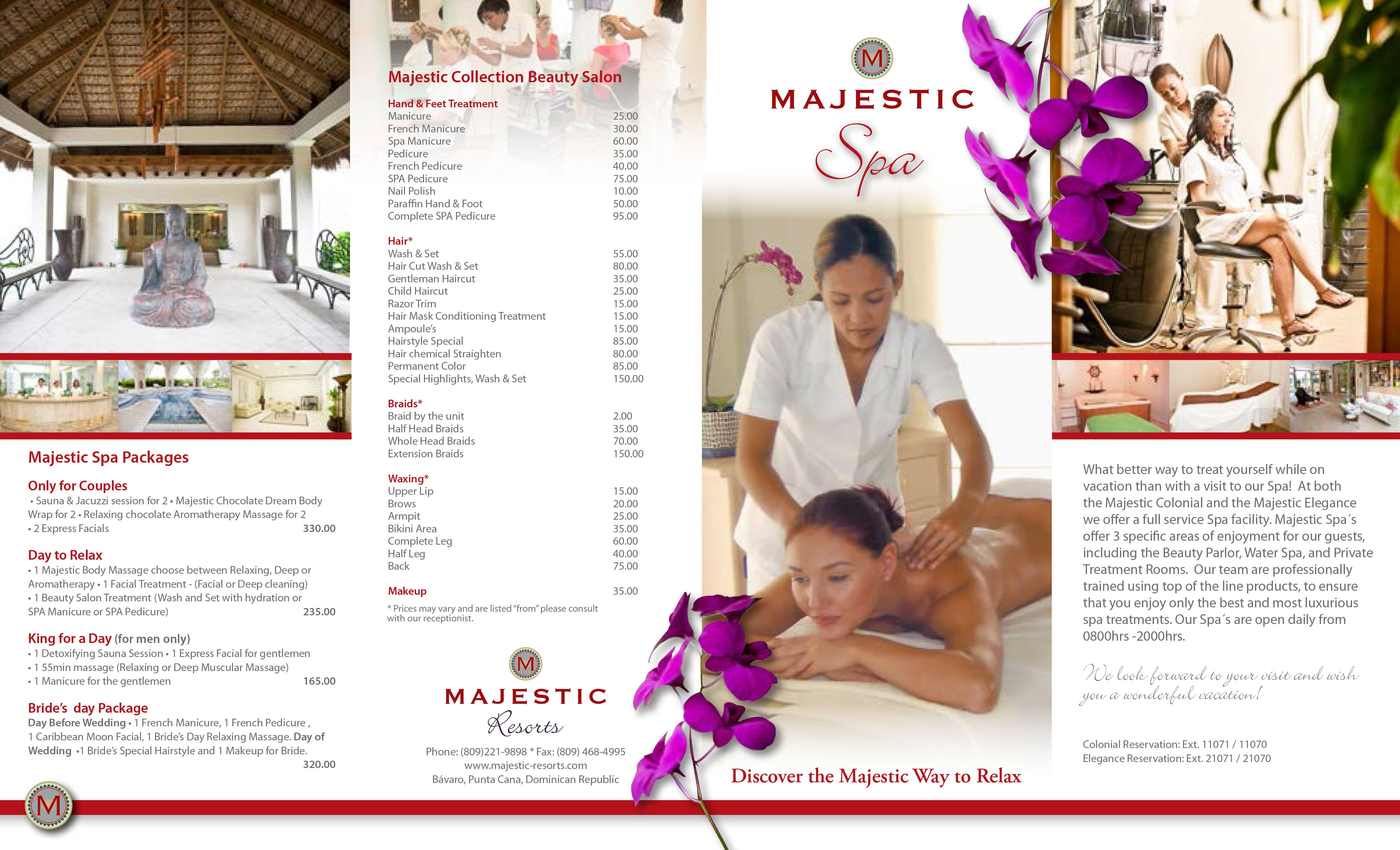 Majestic Colonial Spa Brochure Part   Destinationwedding