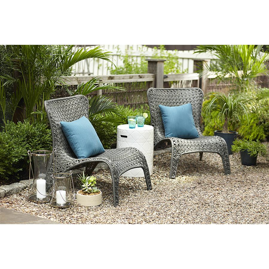 Garden Treasures Patio Furniture Parts: Shop Garden Treasures Tucker Bend Gray Woven Seat Steel