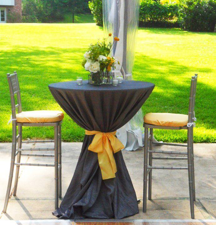 Bistro Tables Cocktail Wedding Reception Weddings Marriage High Venues
