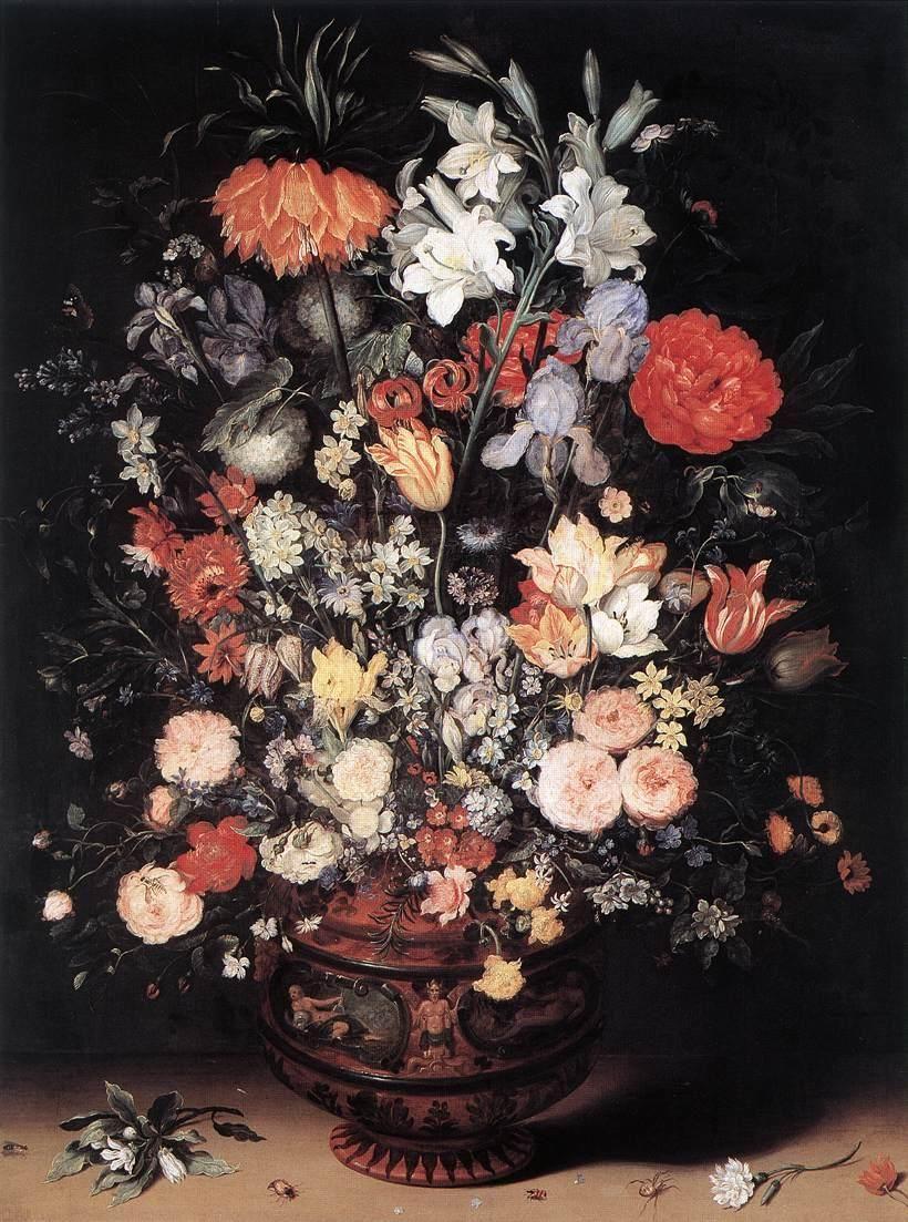 Flowers In A Vase Jan Brueghel Il Vecchio 0018 Flower Painting Flowers In Vase Painting Floral Painting