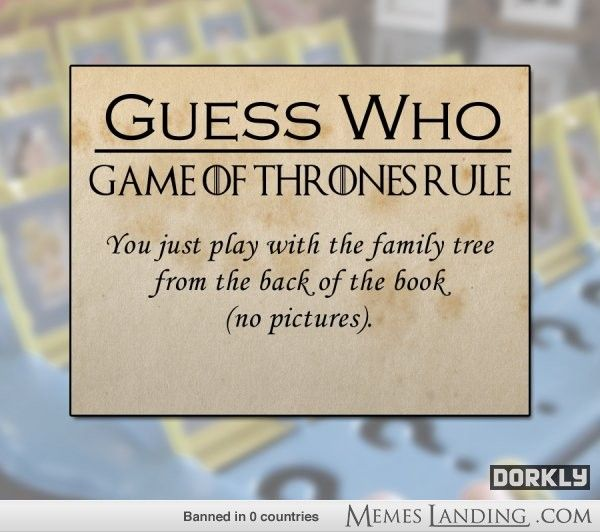 Game of Thrones rules for other games...lol love the new chess rules!