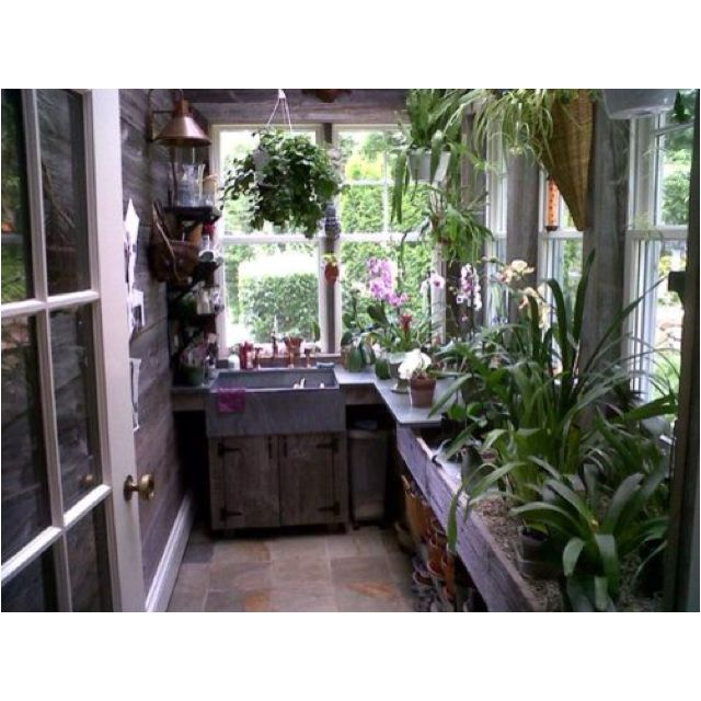 Greenhouse Kitchen, Outdoor Sinks, Garden Room