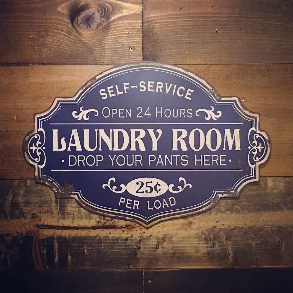 SelfService Laundry Room Sign Self service laundry