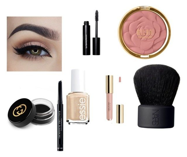 """""""Untitled #21"""" by jaqueline-martinez-1 on Polyvore featuring beauty, Milani, Bobbi Brown Cosmetics, NARS Cosmetics, Gucci, Essie and Christian Dior"""