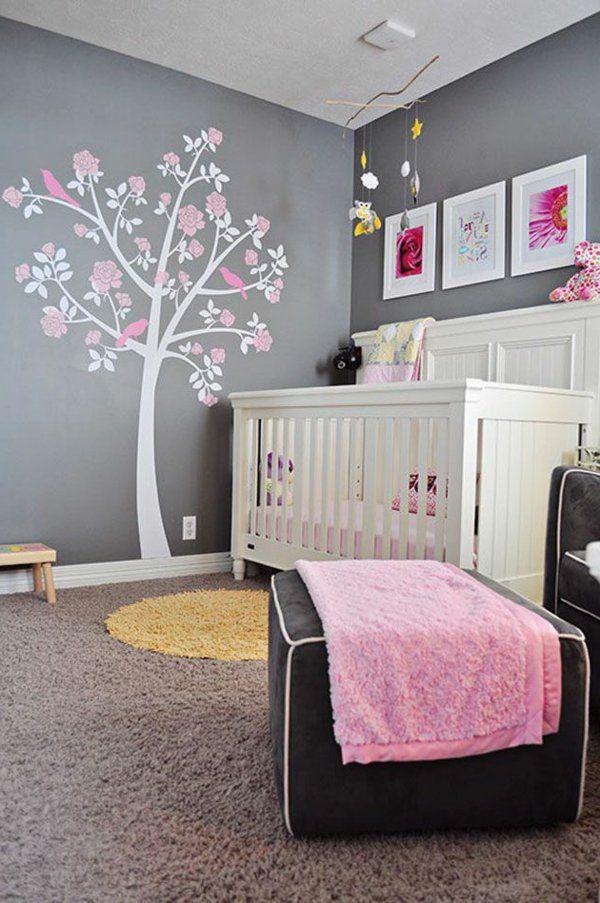 Décoration pour la chambre de bébé fille | Pinterest | Arbre sur le ...