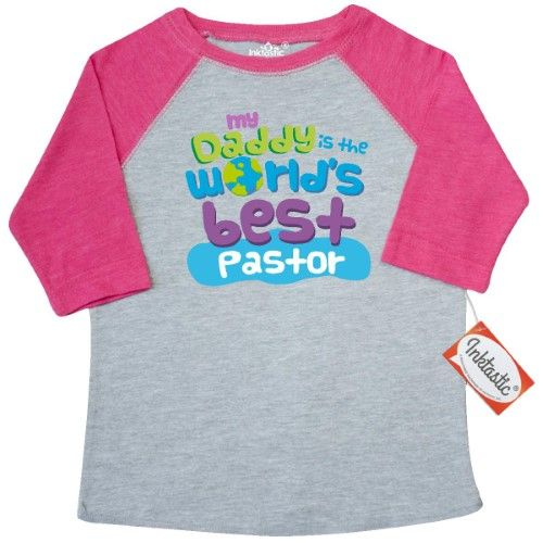 6cc58d7e Inktastic My Daddy Is The World's Best Pastor Toddler T-Shirt Child's Kids  Baby Gift Pastor's Son Childs Like Cute Occupation Apparel Occupations Tees.