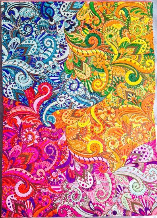 Creative Art Therapy Book An Anti Stress Colouring Book Page Done Stress Coloring Book Anti Stress Coloring Book Creative Arts Therapy