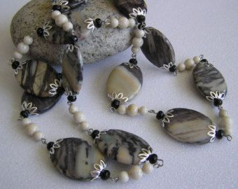 Glorious Nature   Lg. Picasso Jasper Bead Necklace