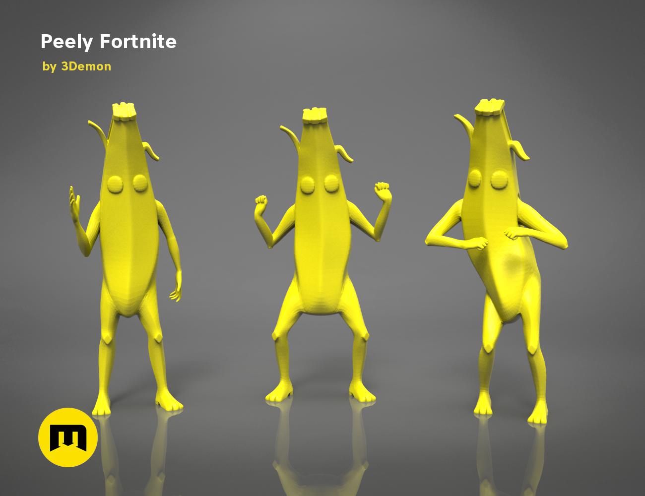 Peely Fortnite Banana Figure Print Models Fortnite 3d