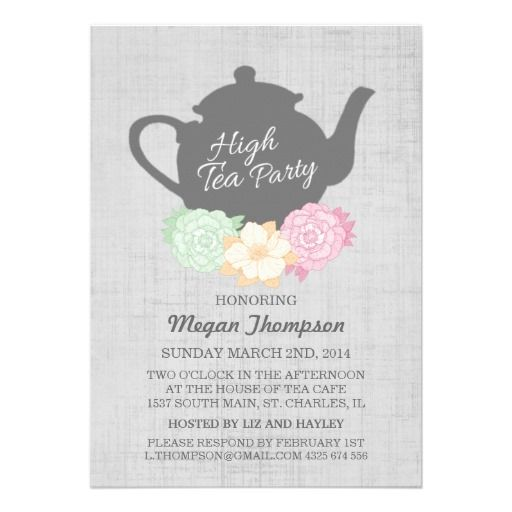 Printable Bridal High Tea Invitation Template Invite your guests - lunch invitation templates