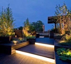 illuminazione-terrazzo-piante-scale | Idee per la casa | Pinterest ...