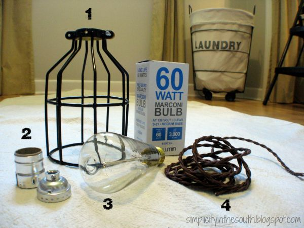 Diy cage light inspired by restoration hardware lighting restoration hardware inspired industrial pendant light lighting diy cage light pendant tutorial supplies from com aloadofball Image collections