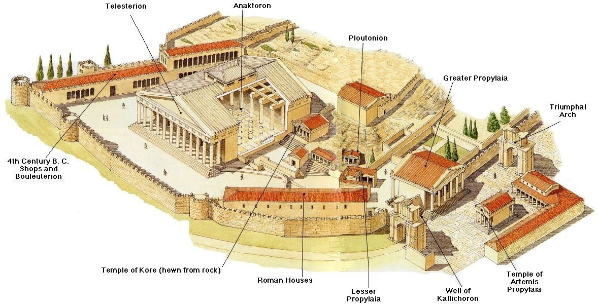 Eleusis Temple Of Demeter Arquitectura Clasica Grecia Clasica Arquitectura