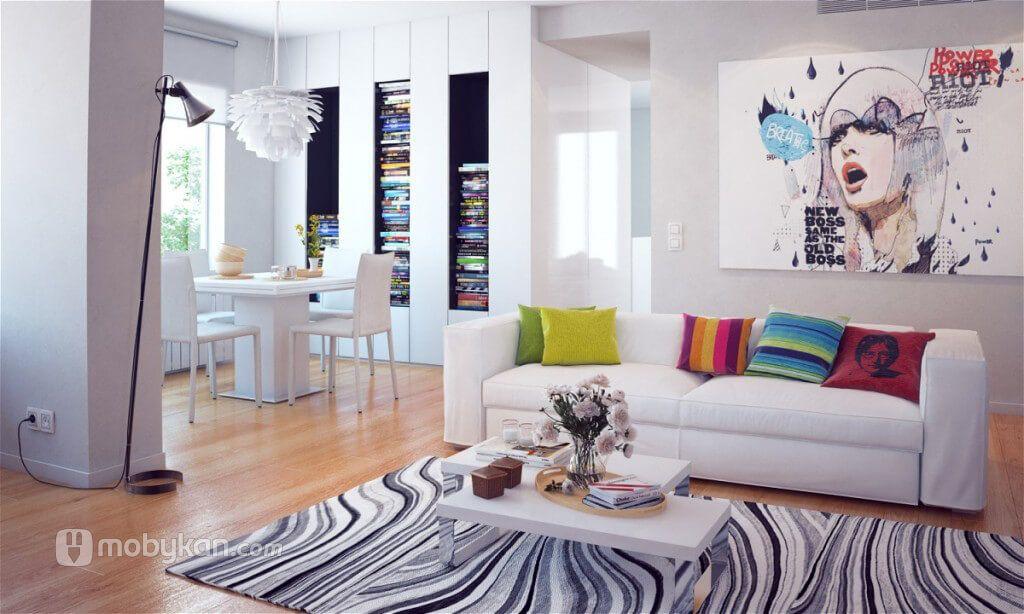 ديكورات و الوان شقق افكار و نصائح لاختيار افضل الديكورات من موبيكان Colorful Interior Design Colorful Interiors House Design