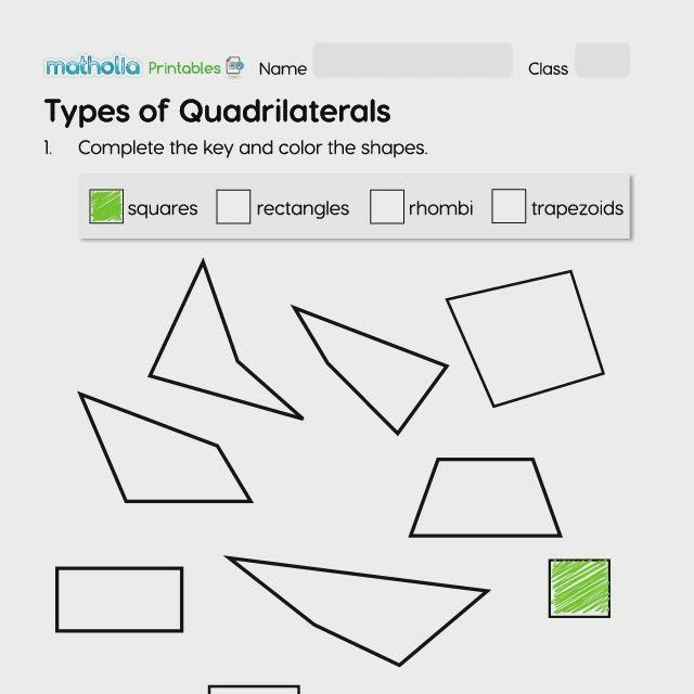 Types Of Quadrilaterals Video Play To Learn Polygon Shape Quadrilaterals Types of quadrilaterals worksheets