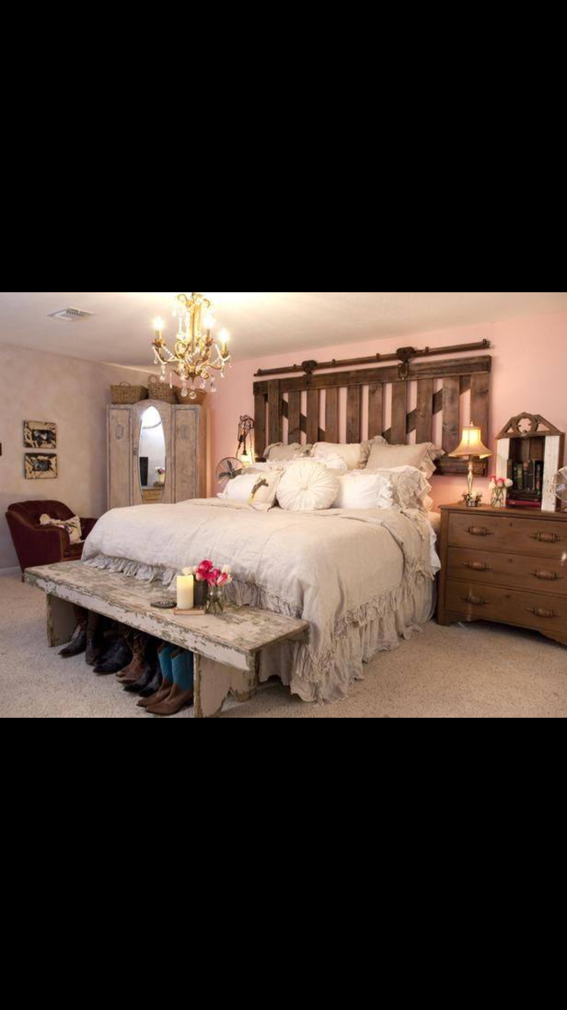 Love This Headboard Idea ~ An Old Barn Gate And