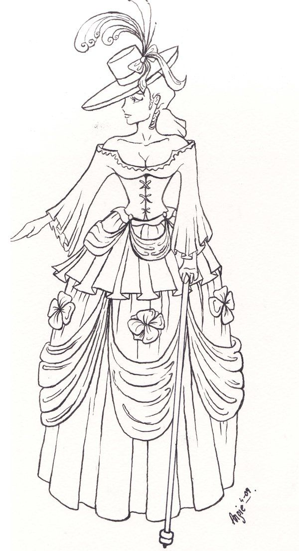 Victorian fashion by blackhorsewhispersdeviantart on - copy coloring pages of barbie a fashion fairytale