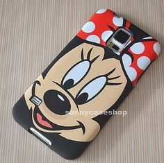 Black Cute Disney minnie Fullbody hard case cover for samsung galaxy S5/4 note3