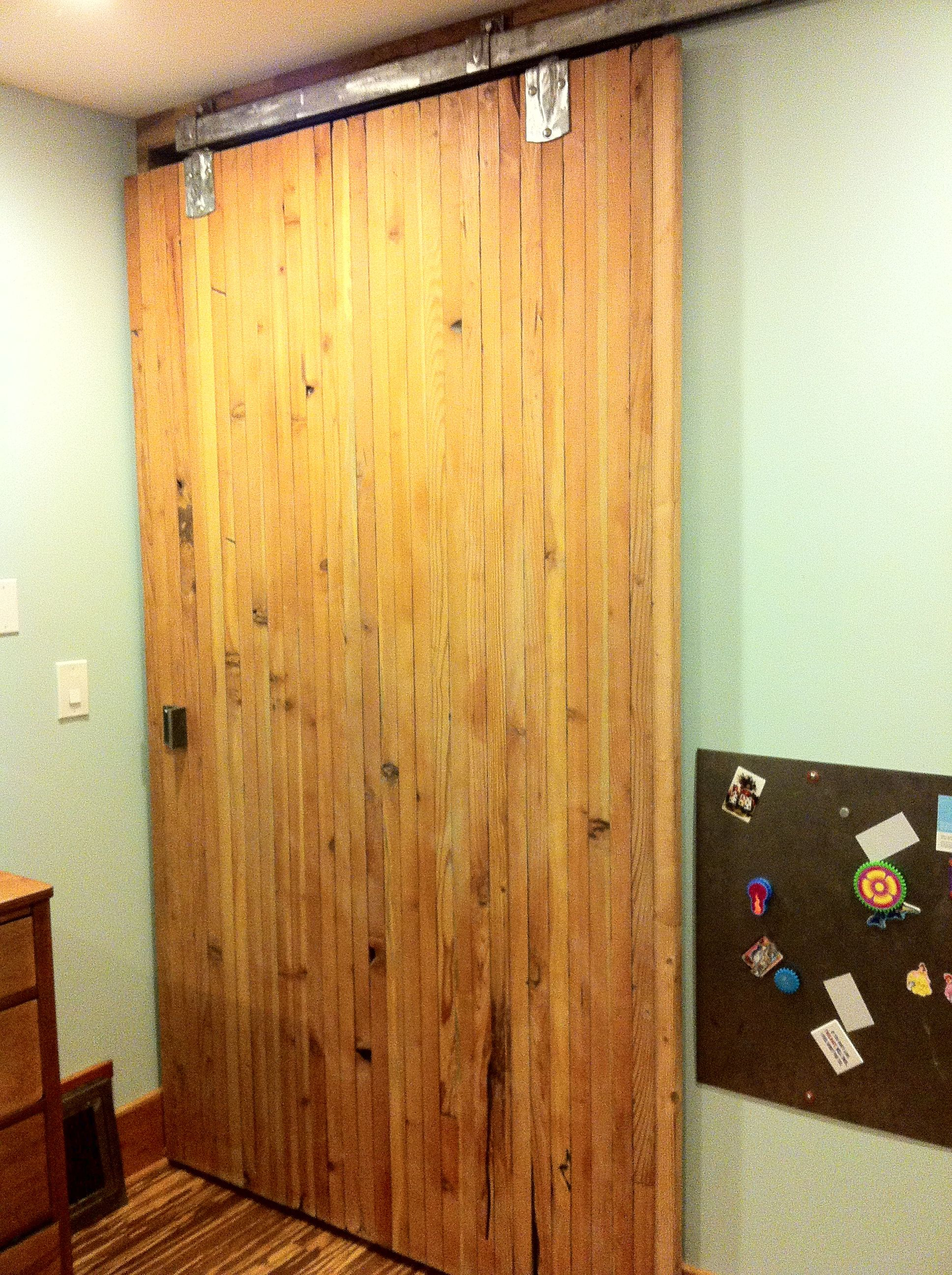 Sliding Closet Door Out Of Reclaimed Wood Recycled Slides And