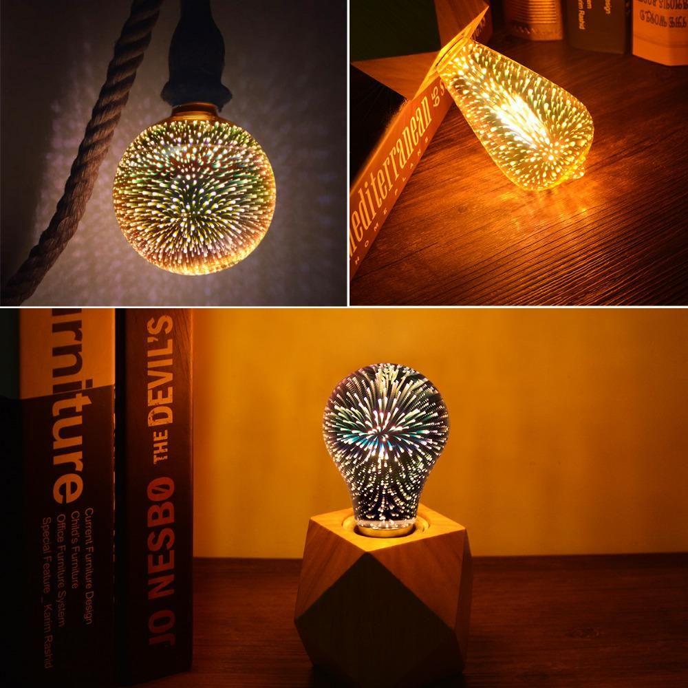 3d Fireworks Led Light Bulb Add Some Fancy And Romantic Touch To Your Home With Those 3d Firework Decorative Light Bulbs Night Light Bulbs Edison Light Bulbs