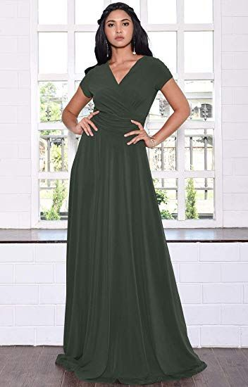 1222060b033e37 KOH KOH Womens Sexy Cap Short Sleeve V-neck Flowy Cocktail Gown at Amazon  Women's Clothing store: