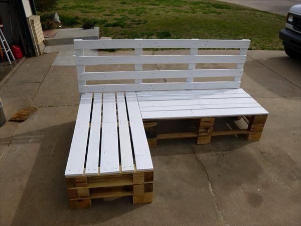 Outdoor Pallet Sectional Google Search Pallet