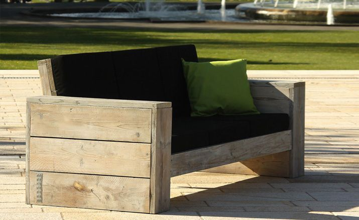 lounge 3er sofa wittekind gartenm bel holz gartenm bel. Black Bedroom Furniture Sets. Home Design Ideas