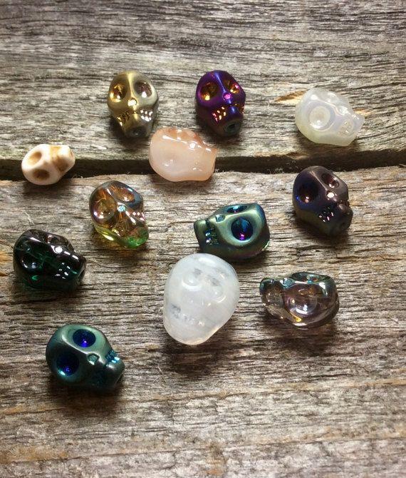 Skull Bead Assortment Mix by FlatCatGems on Etsy
