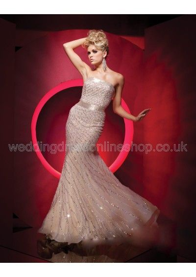Wedding dress online shop - Beaded and Sequined Chiffon Strapless ...