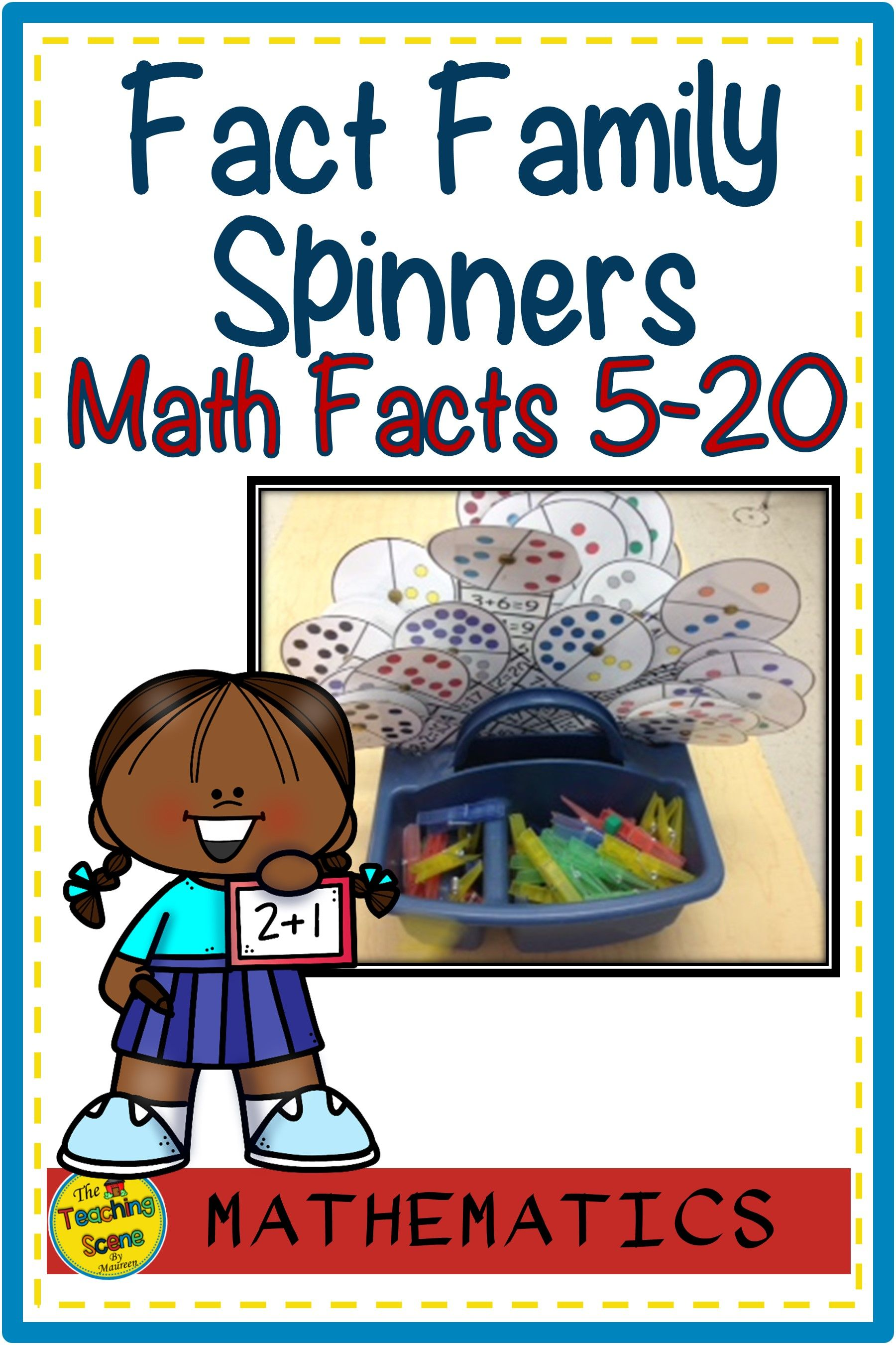 Fact Family Spinners Amp Worksheets Addition Amp Subtraction