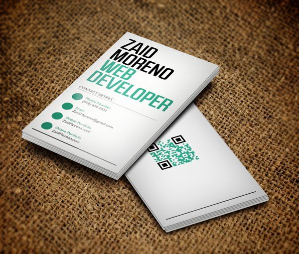 Zaid Moreno By In Fresh And Creative Examples Of Business Cards