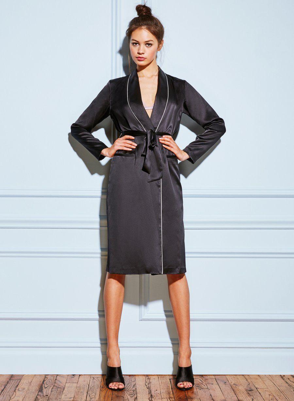 08ecf02c597b1 Long Smoking Robe in 2019 | Lingerie | Smoking robe, Smoking Jacket ...