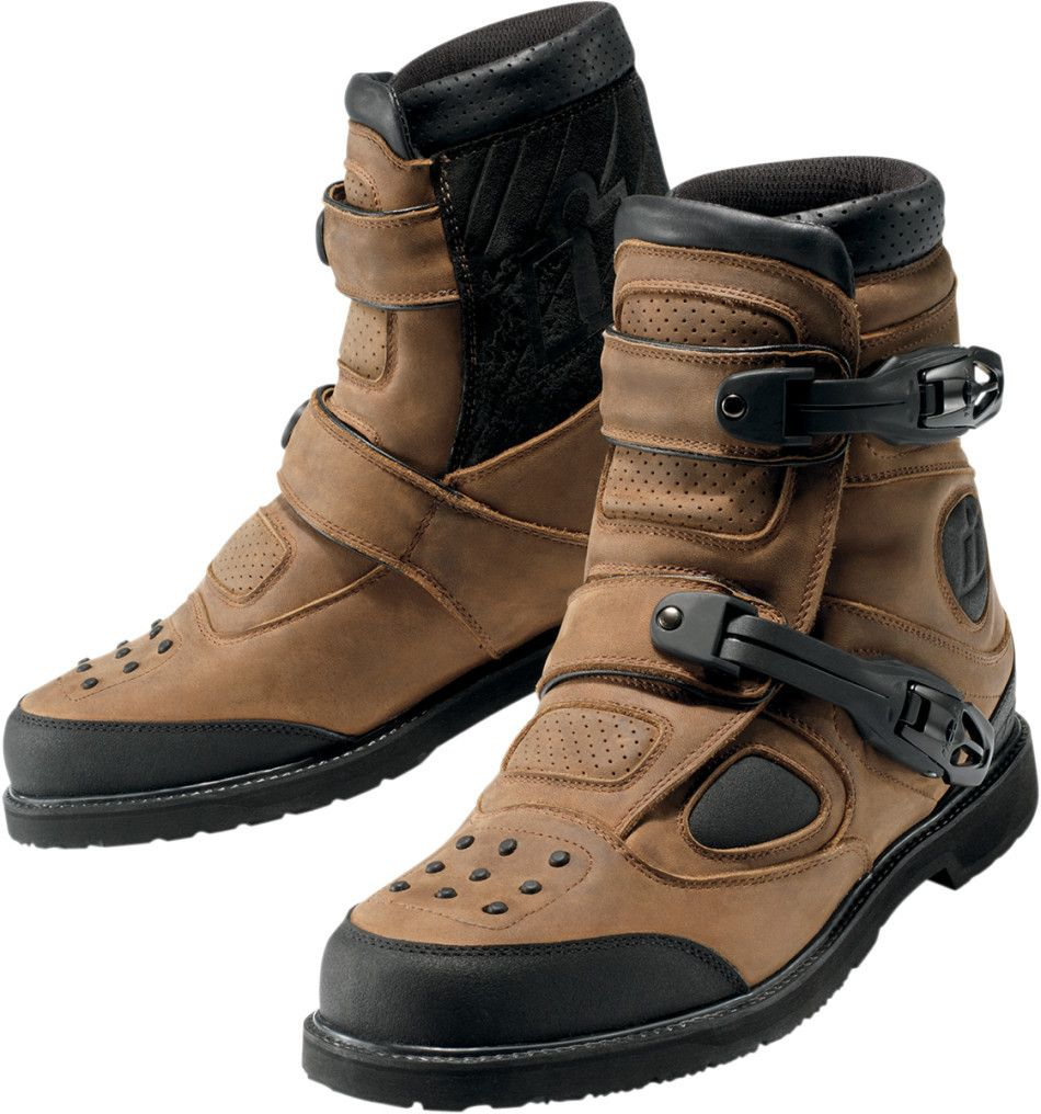 Ministry of Bikes - Icon Patrol Waterproof Motorcycle Boot Brown ...