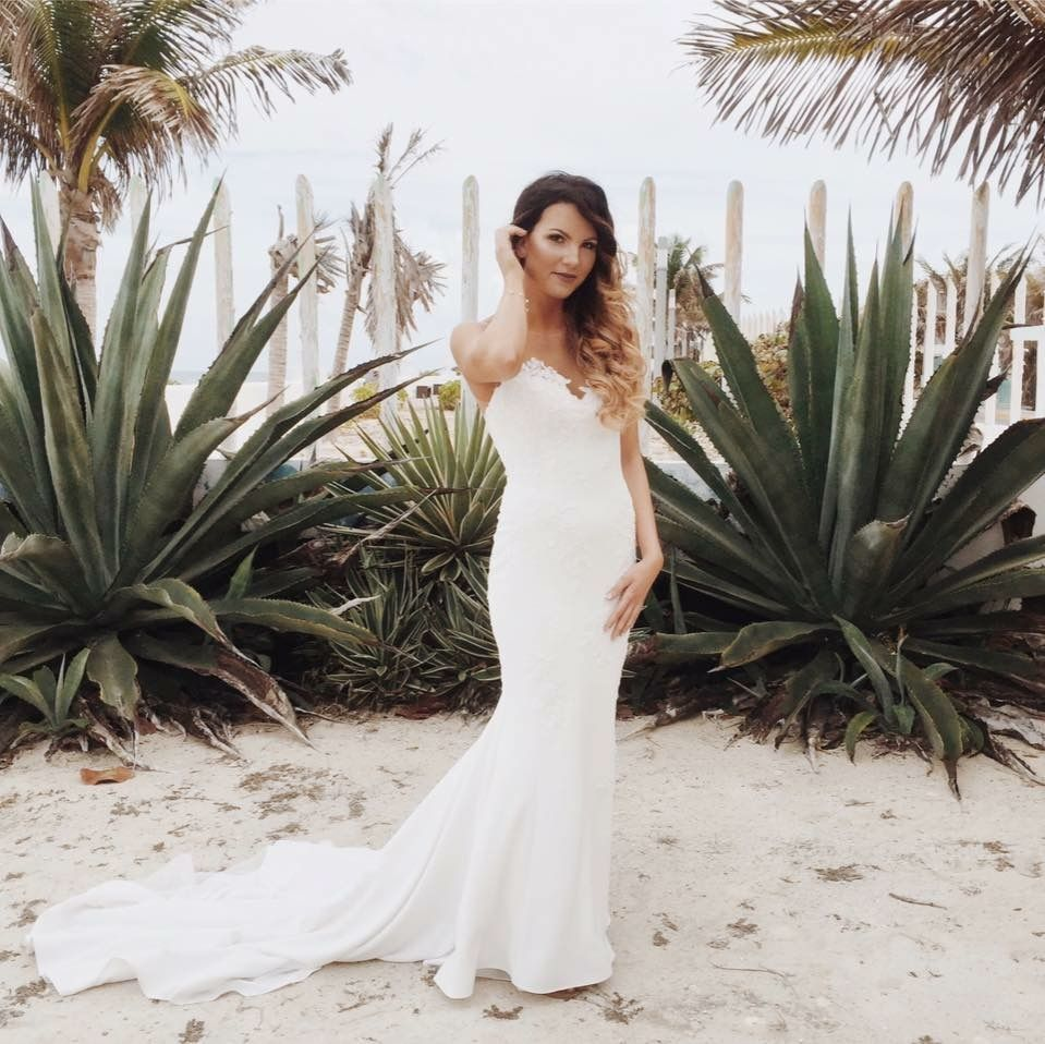 Pronovias wedding dress crepe fabric Wedding dresses
