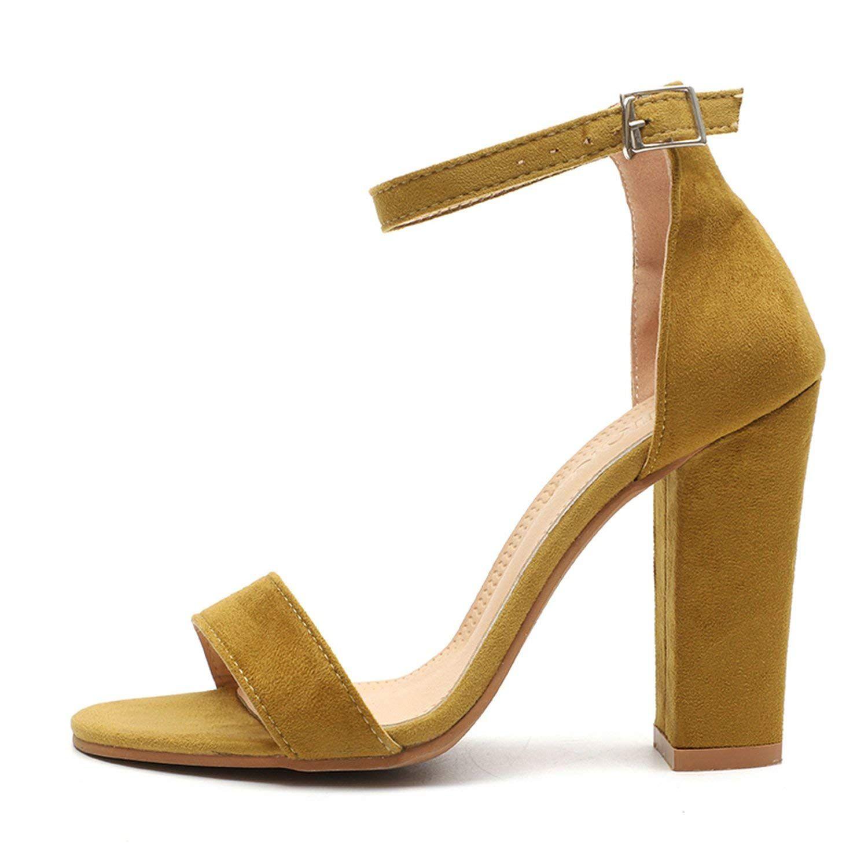 Summer Women Casual Block Heel Sandals Open Toe Ankle Strap Shoes Plus Size